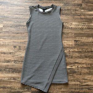 Seductions black/white striped bodycon dress